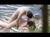 Young Voyeur Amateur Couple Fucking on Public Beach
