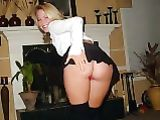 Hot Blonde Maid Shows Ass to Boss