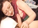 American Mom Sucks Cock on Video