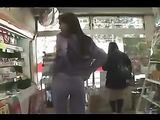 Japanese Girl Flashing Her Boobs and Pussy in Public Shop