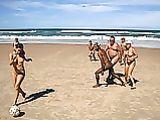 Naked Beach Soccer Game Photo